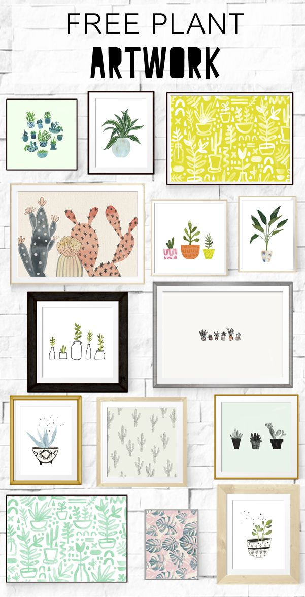 Beautiful Printables | Printable decor | beautiful printable decor ideas | Free Plant Artwork