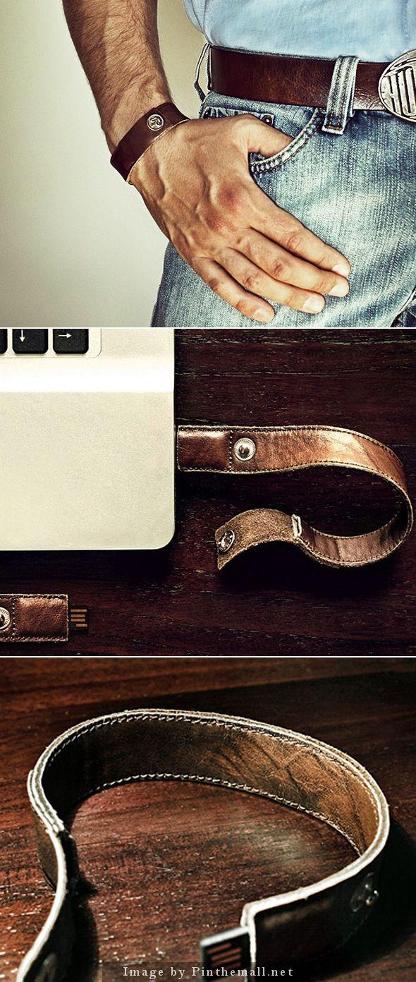 Oriko Leather USB Armband