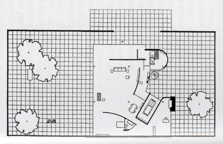 Ludwig Mies van der Rohe | Courtyard House | Project | c ...