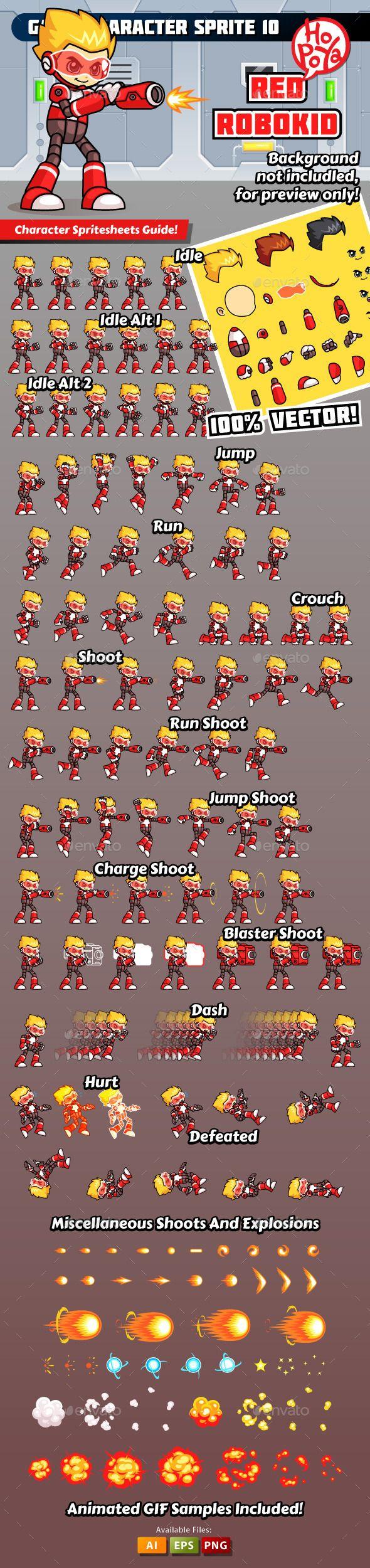 Game Character Sprite 10 Download here: https://graphicriver.net/item/game-character-sprite-10/10269623?ref=KlitVogli
