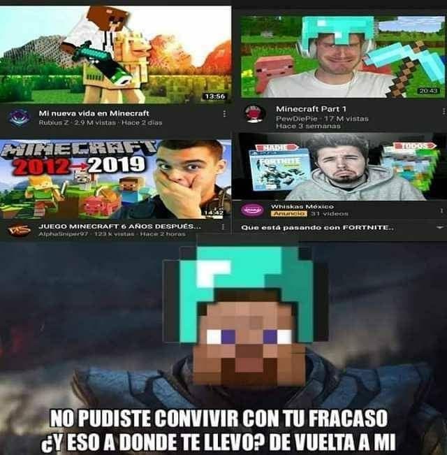 19 Mil Me Gusta 201 Comentarios Memes De Minecraft En Espanol Memes De Minecraft Esp En Instagram Memes De Minecraft Juegos De Minecraft Memes Nuevos