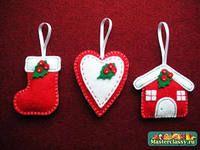 ёлочная игрушка из фетра, christmas crafts, ideas for Christmas gifts, felt hand made newyears gifts, идеи сувениров из фетра, фетровые подарки, новогодние сувениры, handmade decor, ручная работа, новогодние подарки и декор, xmas, christmastree, елочная игрушка