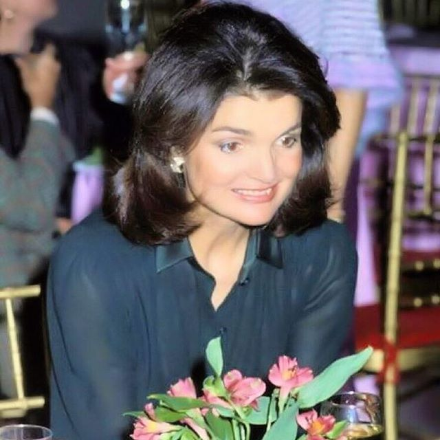 Jacqueline Kennedy Onassis at the NYC's Mayor's Awards of Honor at the Metropolitan Museum of Art, 1978