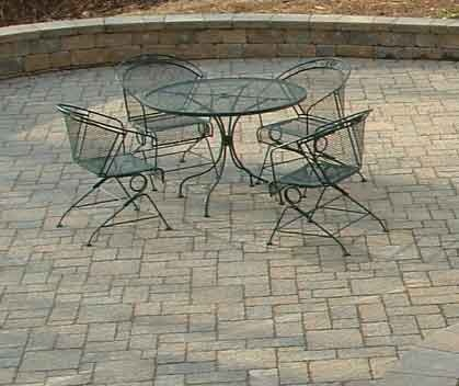 Paving stone patio design.