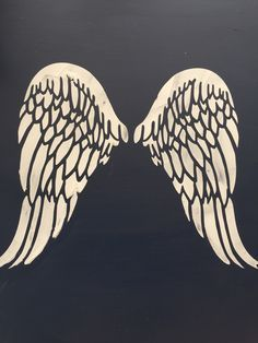 Barleycorn vintage stencils. Raised stencil angel wings