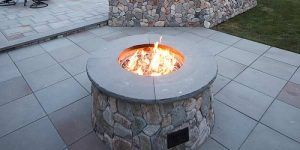 Outdoor Gas Fire Pits Outdoor Gas And Wood Fire Pits   Mike Stacy Landscaping