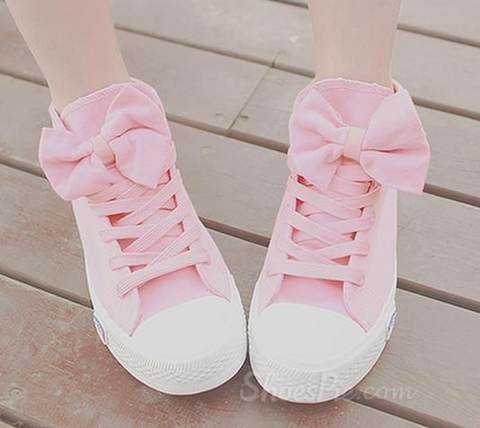 Sweet Little Pink Comfortable Canvas from shoespie.com $23