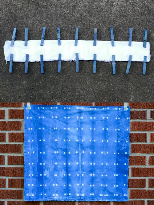 Indigo Dyeing + Handmade Shower Curtain - In Color Order
