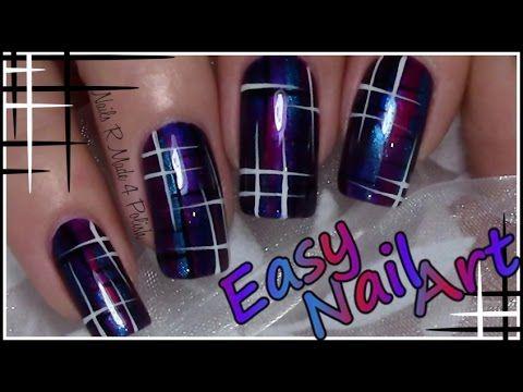 Einfaches Streifen Muster Nageldesign / Easy Nail Art Design Tutorial