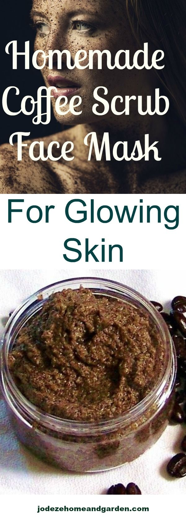 DIY Homemade Coffee Scrub and Face Mask. This homemade coffee scrub face mask smooths away my dead skin cells, deeply nourishes my skin and leaves me with a radiant, glowing complexion.