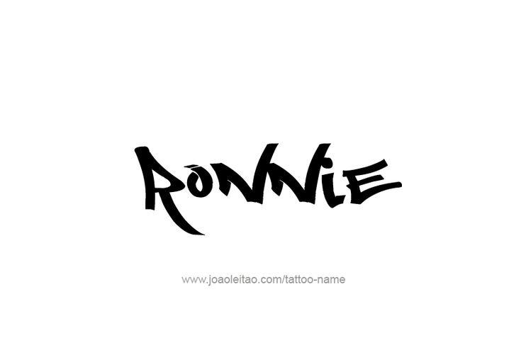 Ronnie Name Tattoo