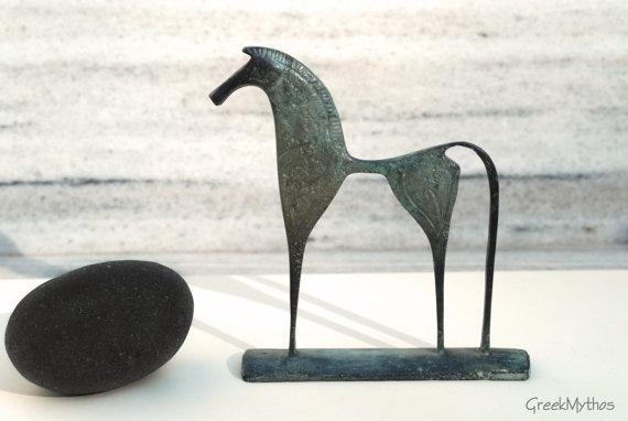 Greek Geometric Bronze Horse by GreekMythos on Etsy, @Sun San
