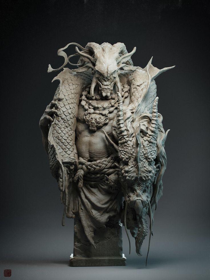 ZhouChu(周处除蛟), Zhelong XU on ArtStation at https://www.artstation.com/artwork/25PLK