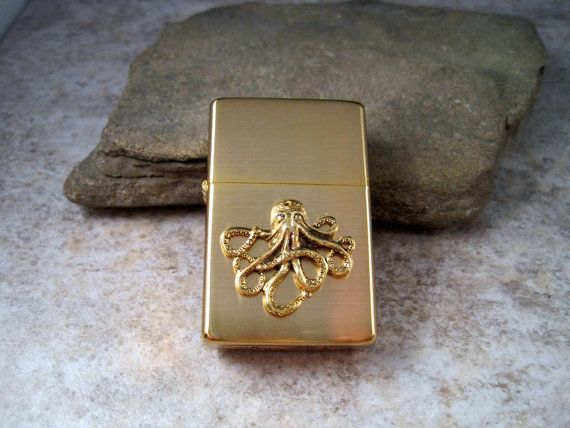 Octopus Zippo I have this zippo in brushed nickel