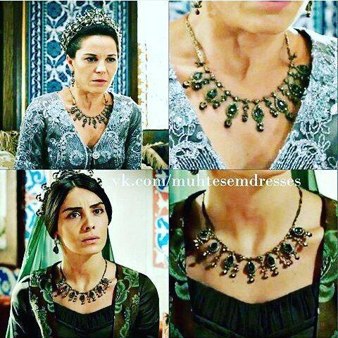 Handan Sultan - Sultan Ahmed's mother wearing the necklace of Mahidevraan Sultan ...