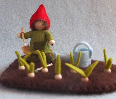 bolletjes poten, felt spring, vilt lente Atelier Pippilotta