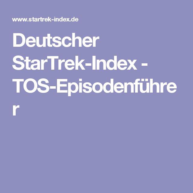 Deutscher StarTrek-Index - TOS-Episodenführer