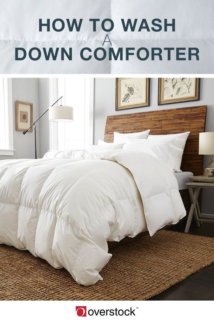 How to Wash a Down Comforter. Cleaning a down comforter is not like doing regular laundry. There are special steps for washing your comforter that will allow you to clean it properly and greatly extend the life of the down bedding. Here's how to wash a down comforter to keep it clean and comfortable for years to come.