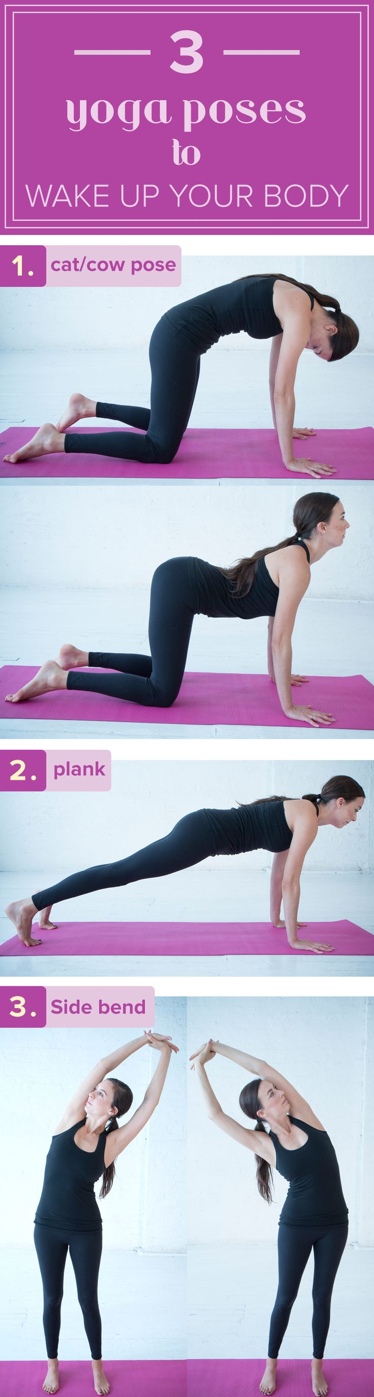 This yoge poses workout routine will wake up your body, Try this sequence of stretches for more energy.
