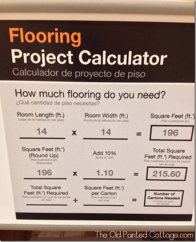 Pretty sure I don't need this since my hubby has been doing it so long, but I can surprise him by knowing how much is needed on my own!(; flooring calculator