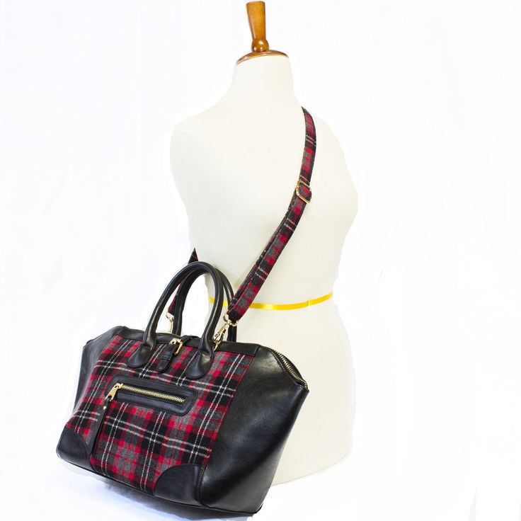 Paris Plaid Tote | Discount Purses | Handbag Heaven