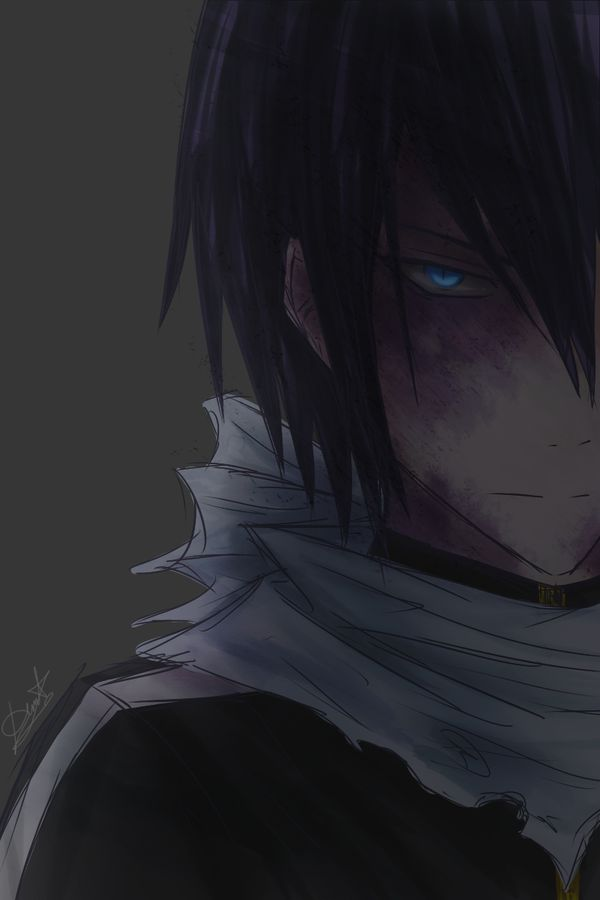 Oh look, creepy dude in shadow... -_- Yato... How many times do I have to tell you to stop messing with the kids?!