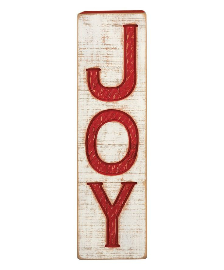 Take A Look At This Joy Vertical Block Sign Today
