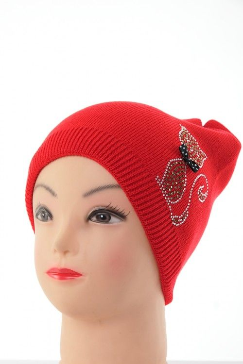 Шапка В0262 Цвет: красный Цена: 270 руб.  http://optom24.ru/shapka-v0262/  #одежда #женщинам #шапки #оптом24