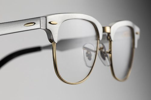 The aluminum #Clubmaster in silver and gold // #RESISTANTasALUMINUM // www.ray-ban.com