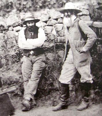 Paul Cezanne (left) with Camille Pissaro around Auvers c.1874.