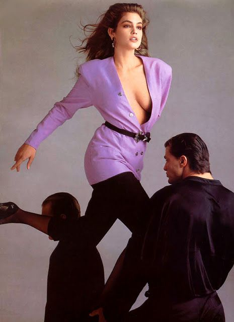 CINDY CRAWFORD Gianni Versace Ad 1980s