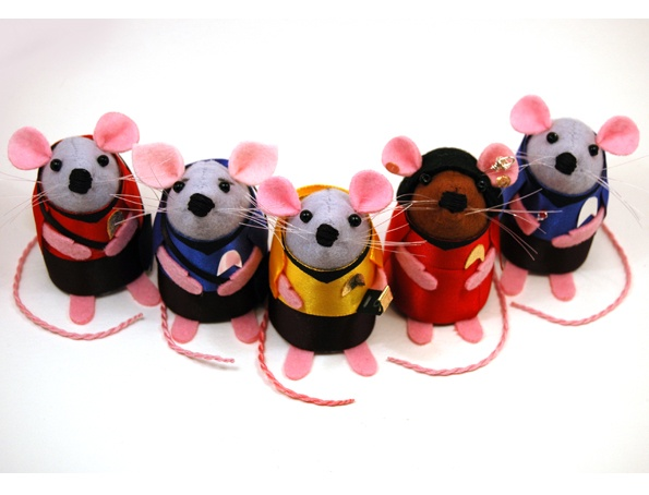 To boldly go where no mouse has gone before...: Originals Series, Mouse Ornaments, Ornaments Collector, Stars Trekki, Startrek Geek, Collector Startrek, Ornaments Felt, Trek Originals, Series Mouse