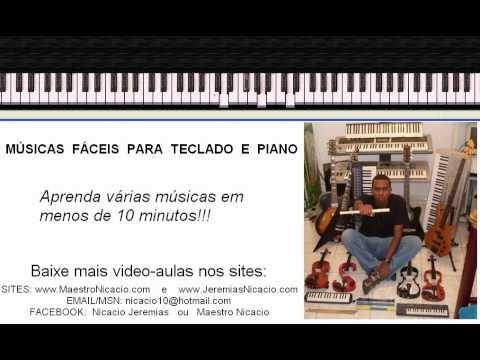 Video aula com várias músicas fáceis de tocar para teclado e piano. ..