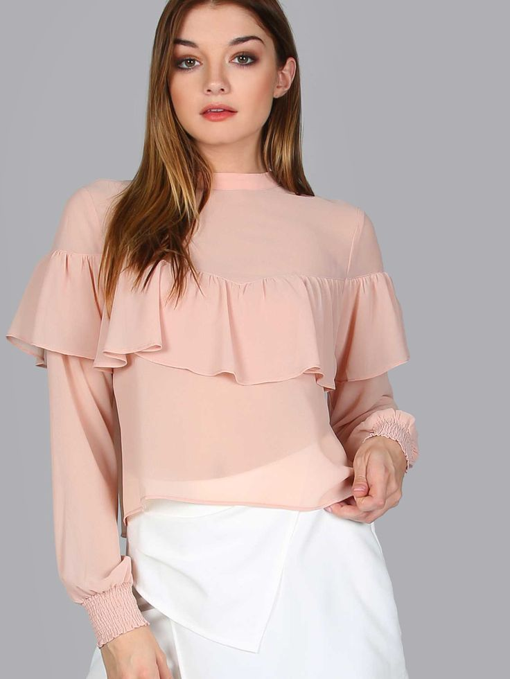 Shop Belted Long Sleeve Chiffon Blouse PEACH online. SheIn offers Belted Long Sleeve Chiffon Blouse PEACH & more to fit your fashionable needs.