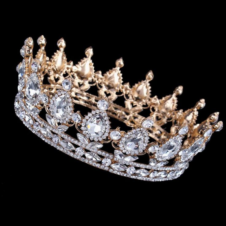 Luxury Vantage Gold Wedding Crown Alloy Bridal Tiara Baroque Queen King Crown 18K gold plated rhinestone tiara crown http://www.dealofthedaytips.com/products/luxury-vantage-gold-wedding-crown-alloy-bridal-tiara-baroque-queen-king-crown-18k-gold-plated-rhinestone-tiara-crown/