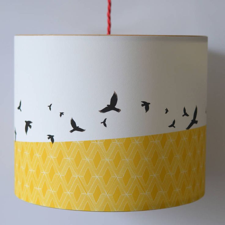 Free Flying Birds Illustrated Lampshade from notonthehighstreet.com