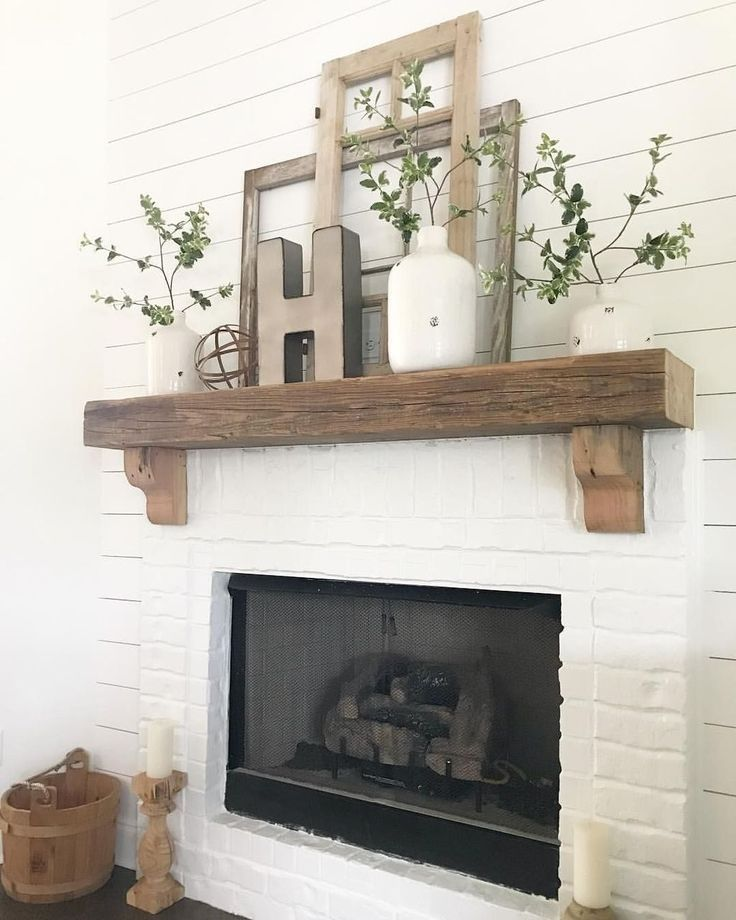 25 Cozy Ideas For Fireplace Mantels: 39 Cozy Fireplace Decor Ideas For White Walls