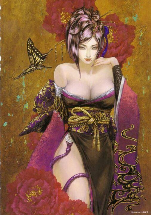 Sexy geisha | Fashion Illustration | Pinterest