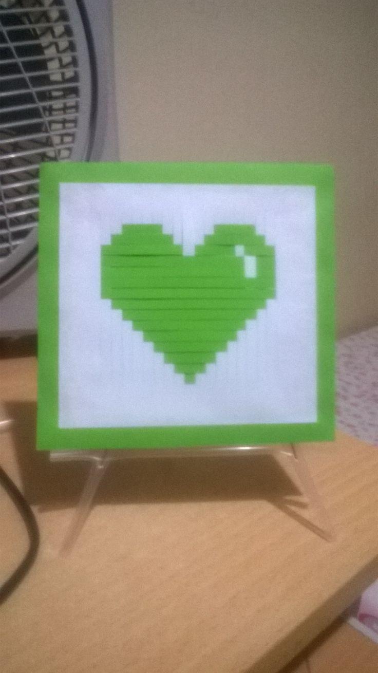 Heart, green, diy