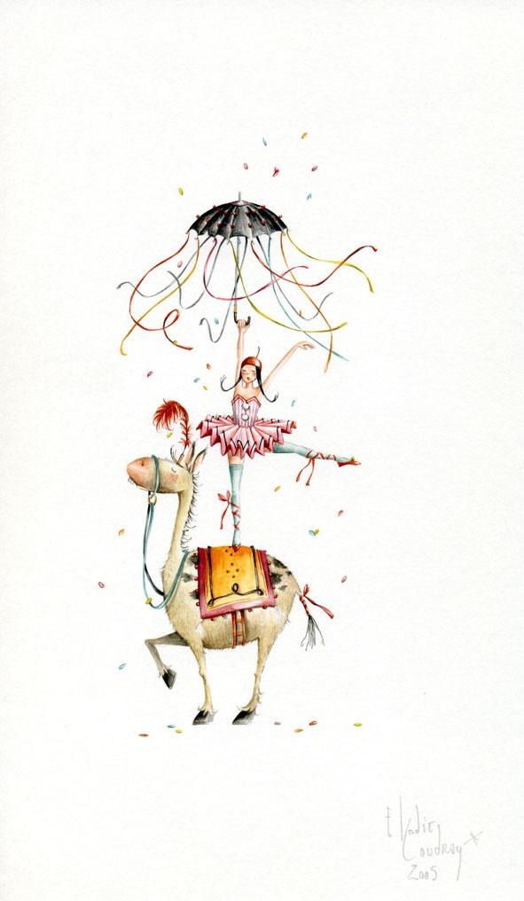 Ilustración de Elodie Coudray diseñadora de moda y artista decorativa en Paris