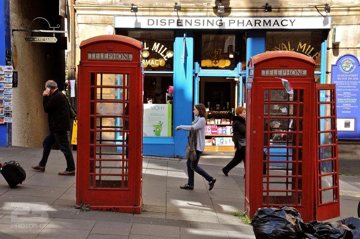 Two Phone Booths and a Chemist photo | 23 Photos Of Edinburgh