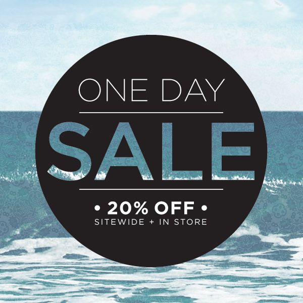 One day sale on www.mooreaseal.com! Use code OCEANBLUE for 20% off, even new arrivals :) Expires 10/13 at 11:59pm.