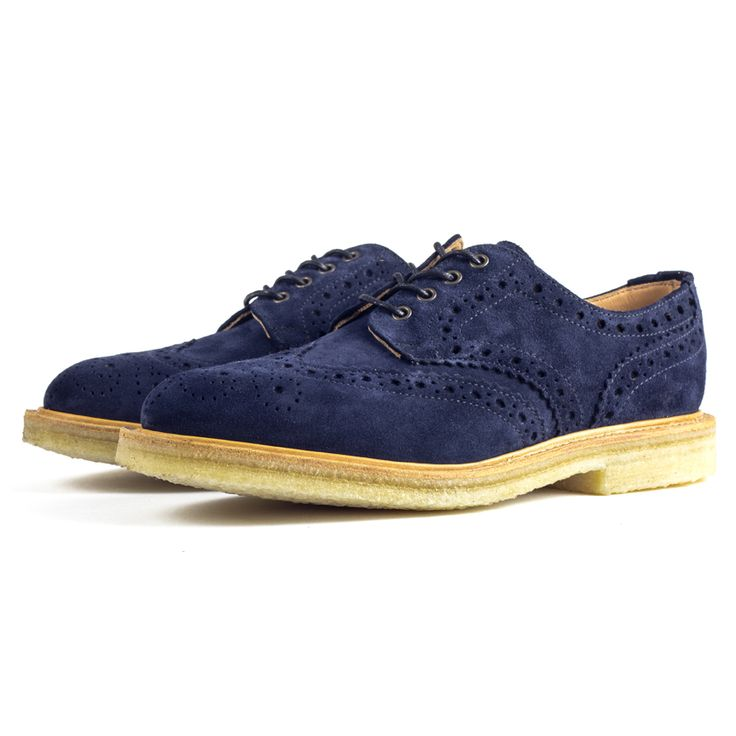 Sanders have been in the footwear business for over 140 years and this experience is clearly demonstrated in the design and construction of their iconic Navy Suede Brogues.  http://www.zocko.com/z/JGraQ