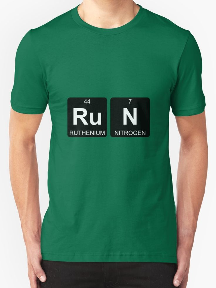 Ru N - Run - Periodic Table - Chemistry by Jenny Zhang • This collection showcases a clever use of symbols of the chemical elements to form a word. • Also buy this artwork on apparel, stickers, home decor, and more.