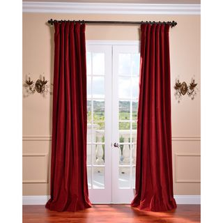 OMG.  Swoon.  Claret Red Vintage Cotton Velvet Curtain