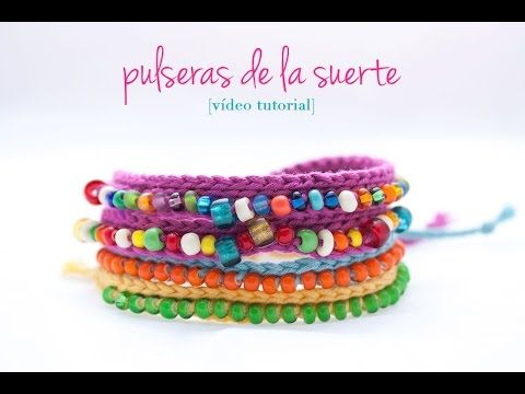 Cómo hacer una pulsera de ganchillo con bolitas | How to make a crochet bracelet - YouTube