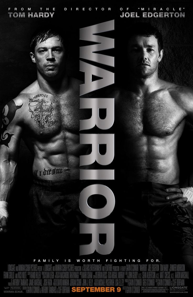 WARRIOR. great movie about MMA fighting and family.