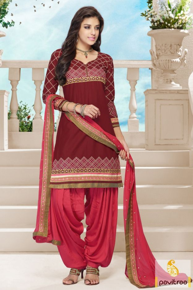 Frightening brown chiffon embroidery patiala salwar suit will give you tantalized appear with nice square and floral embroidery designs and chic patiala salwar.  #pavitraa, #salwarsuit, #salwarkameez, #patialasalwarsuit, #punjabisalwarsuit, #partywearsalwarsuit, #printedsalwarsuit, #embroiderysalwarsuit, #designersalwarsuit, #newfashion, #pajamasuit http://www.pavitraa.in/store/patiala-salwar-suit/ Contact Us : 917698234040