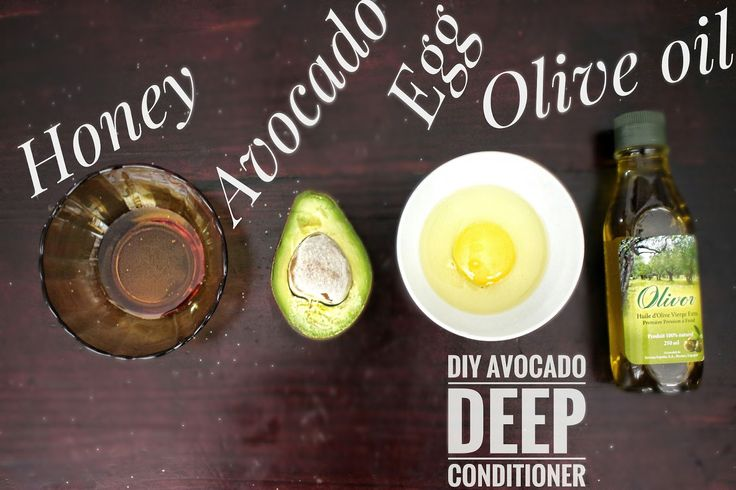 DIY avocado deep treatment mask for Natural hair.