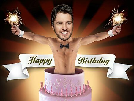 Luke Bryan birthday cake